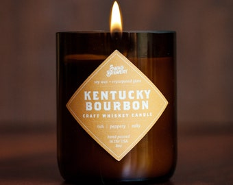 Kentucky Bourbon Whiskey Candle - Made in USA. Whiskey Gift. Bourbon Gift. Perfect for Whiskey Lovers, Bourbon Lovers, and Moonshine Lovers!