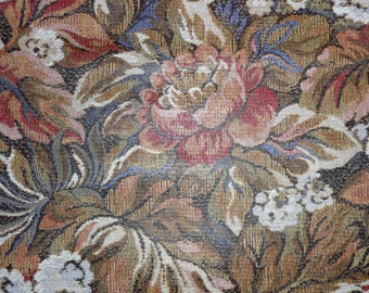 """Leather 12""""x12"""" Floral Tapestry print on Weave Texture Cowhide 2 oz / .8 mm PeggySueAlso™ Limited"""