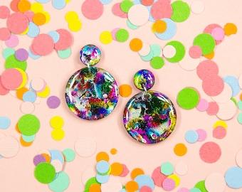 Prismatic Dangle Earrings
