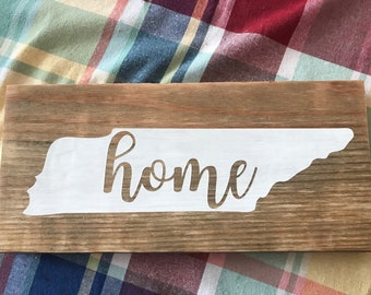 Tennesse Home Wood Sign