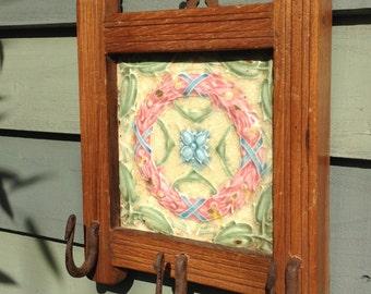 Antique tile hook panel, from Rajasthan.