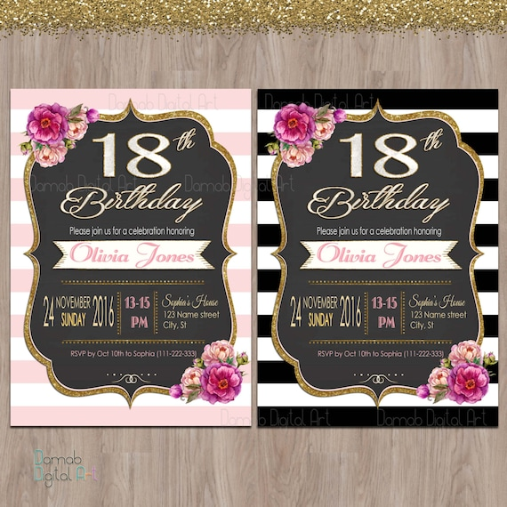 18th birthday invitations 18th birthday party invitations
