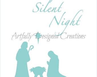 Nativity Silent Night Stencil