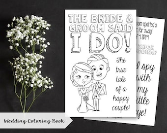 Wedding Coloring Activity Book | Kids | Children | Game | INSTANT DOWNLOAD | Digital | Printable | DIY