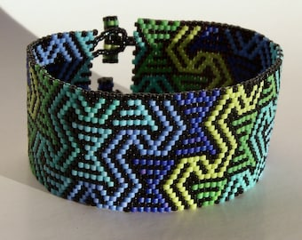 Tribal Sea Bracelet Pattern - Peyote Pattern
