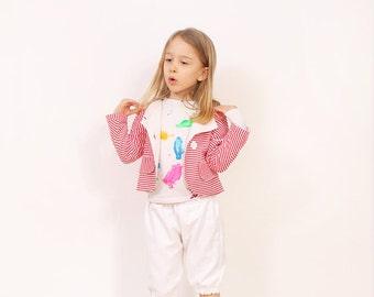 Mina girls JACKET pattern - girls pdf blazer pattern - from 2 to 7 years