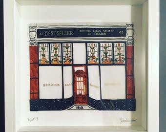 Bestseller Dublin original paper art framed