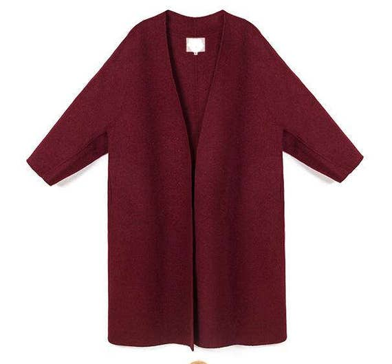 Coat Jackets Size Any Coat Women's Wool Women Coat style loose Wool Wool Wool Wool Double Winter Winter Face Cape Coat Jacket ZaPxWRE