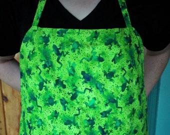 Apron Frogs Fish Green Cooking Gardening