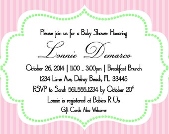 Camo baby shower invitation template 4x6 pink and lime green baby shower invitation template 4x6 stopboris Image collections