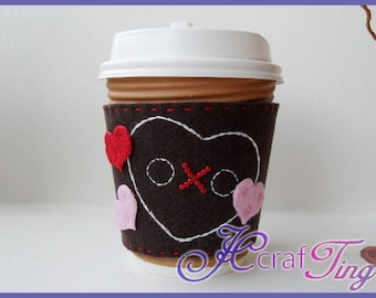 Felt Coffee Sleeve (Large) PDF pattern