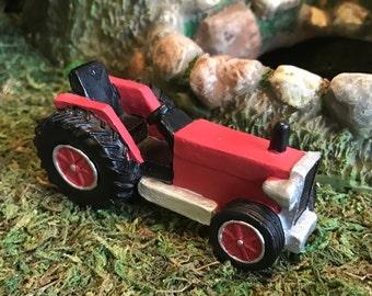 Miniature Red Farm Tractor