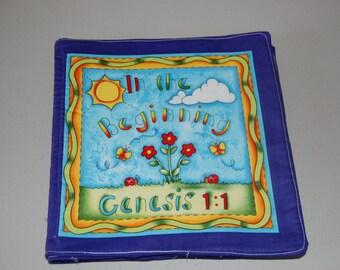 In the Beginning - Genesis 1:1 Fabric Book