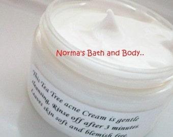 tea tree face cream, face cream, face products, beauty, facial products, normas bath