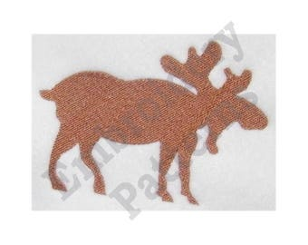 Moose Silhouette - Machine Embroidery Design