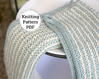 KNITTING PATTERN | Dishcloth Pattern | Knitted Dishcloth | Simple Stripes Dishcloth Patters