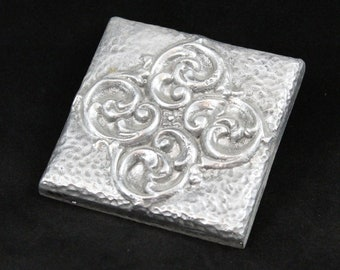 Floral- Inlay Tile- Baroque Scroll- Aluminum