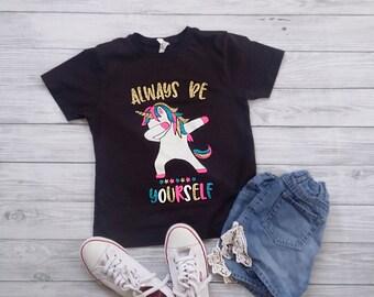 Kids dabbing unicorn shirt, unicorn shirt toddler, girls unicorn shirt, unicorn gift