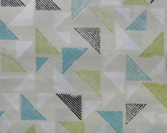 Cloud 9 Fabric certified organic cotton Landscape Blockprint Citron pattern 138904