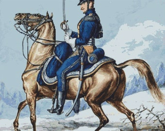 Grande Armée 8th Polish Regiment of Light Horse Lancers - Counted Cross Stitch Kit - DMC materials