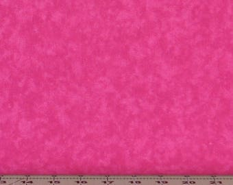 Bright Pink Mottled Texture 100% Cotton Quilt Fabric Blender for Sale from Marshall Dry Goods, MDGCloud-Pink, Yardage