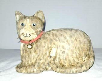Vintage Cat Figurine,Cat Figurine, Takashi Style, Cat, Cat Lady,Folk Art, Kitten, Cat Lover, Feline, Folk Art Cat, Primatives,Country Home