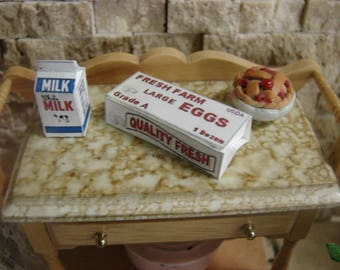 Dollhouse Miniature Milk Carton or Egg Carton