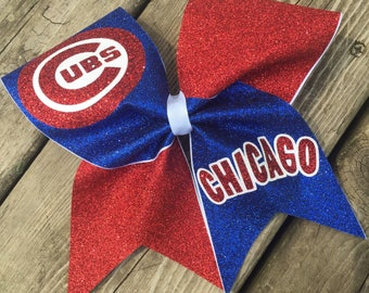 Chicago Cubs Bow - 2-color logo