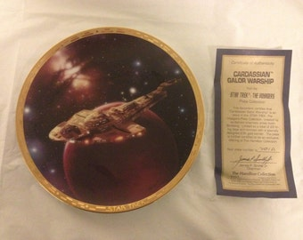 Star Trek Cardassian Galor Warship The Voyagers Plate Collection 1994