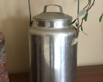 Vintage ALUMINUM GALLON Milk Cream PAIL