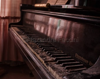 Piano lesson - Digital photography in size 30 * 45