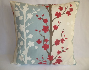 """BIG Pillow Cover Red Duck Robins Bue 22x22 Designer Cushion Throw Scatter Pillows 22"""""""