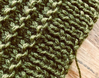 Not easy being green – vest - unfinished knit