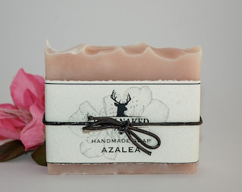 Azalea Flower Soap/Farm Made in NC/ Light Pink Floral Scent/Southern Girl/Native Gardener/Garden Soap/North Carolina Welcome Gift/Tarheel
