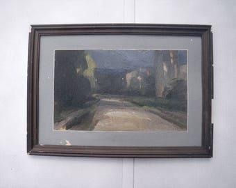 "Leonard Shilenkov Russian Oil Painting ""My Street"""