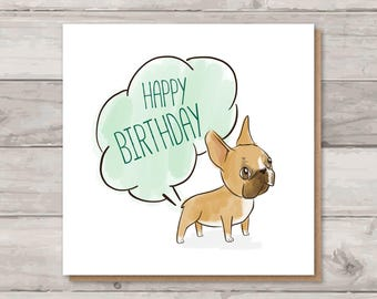 French Bulldog Birthday Card | Rude Birthday Card | Frenchie Card | Funny Birthday Card