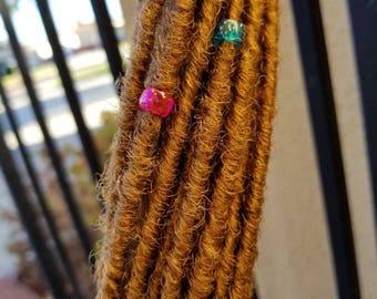Light Brown Synthetic Dreadlocks