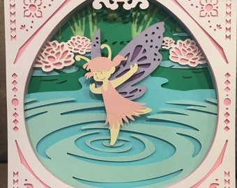 Water Fairy Paper Cutout