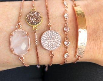 Slider Bracelet - Rose Gold