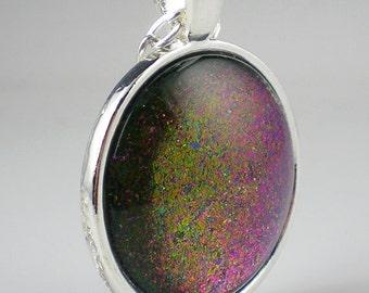 Purple Copper Nail Polish Necklace Jewelry Indigo Bananas Galactic Halo Multichrome Flake Nail Polish Jewelry