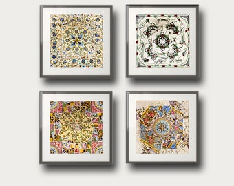 Gaudí Barcelona Wall Art Wall Decor Gallery wall prints Set of 4 photos Fine Art, wall art set
