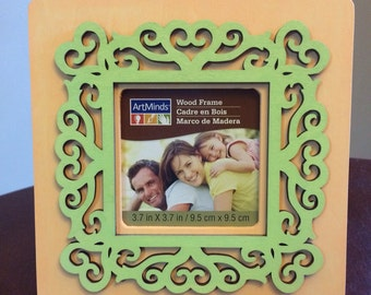 3x3 Wooden heart Frame - free shipping