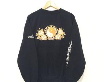 Rare!! T&C Surf Design Hawaii Sweatshirt Pullover Jumper Black Colour Xlarge Size
