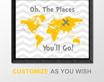 Travel nursery print etsy travel baby nursery decor world map baby items map nursery print airplane baby gumiabroncs Image collections