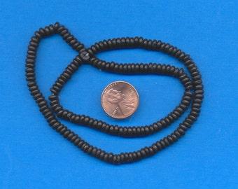 "16"" strand of 5mm bone beads:  Black"