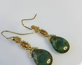 Green Picasso Earrings