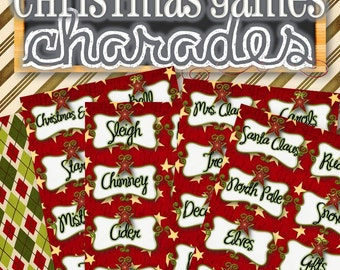 Christmas Charades Game - INSTANT DOWNLOAD