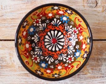 Stoneware bowl, yellow saucer, yellow bowl, decorative bowl, handmade pottery, ceramic bowl, handmade bowl, small bowl, handmade ceramics
