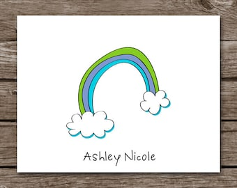 PRINTABLE Rainbow Note Cards, Rainbow Cards, Personalized Note Cards