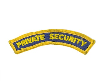 Private Security Vintage Patch